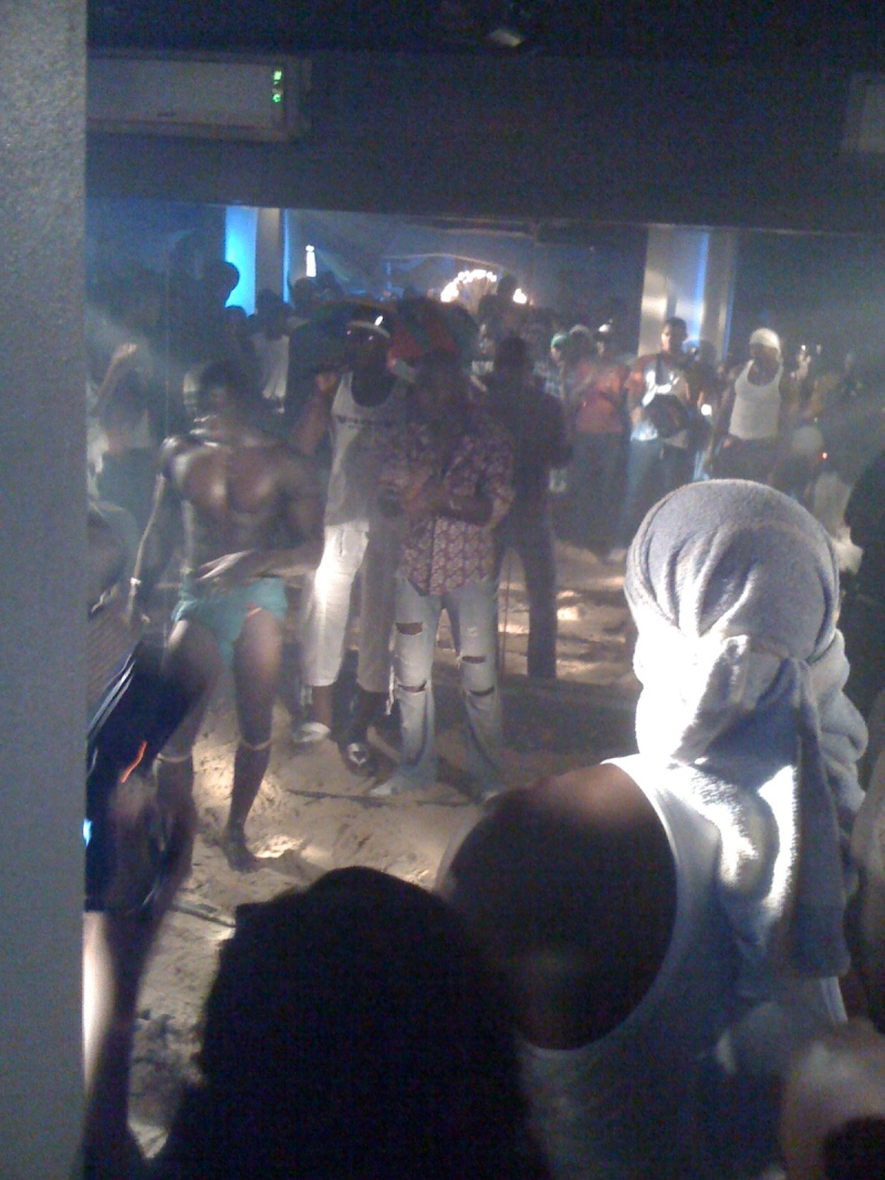 "A Dakar ""Beach Party"" Hip Hop Club, with a West African wrestling match interlude"
